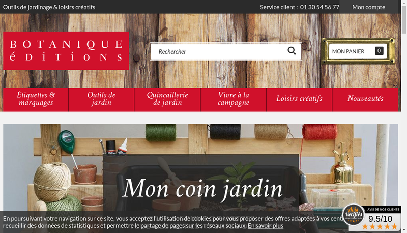 Capture d'écran du site de Botanique Editions