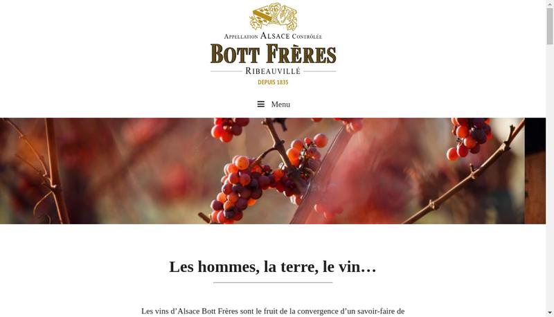 Capture d'écran du site de Paul Bott -Bott Pere et Fils