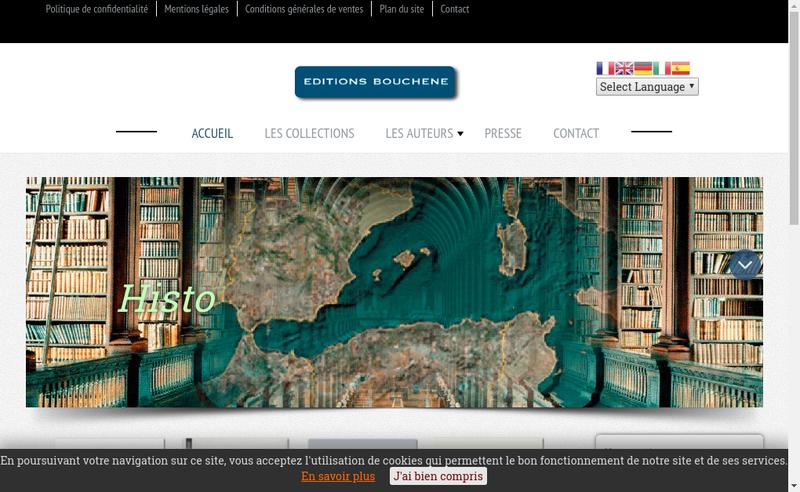 Capture d'écran du site de Editions Bouchene