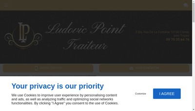 Site internet de Ludovic Point Traiteur