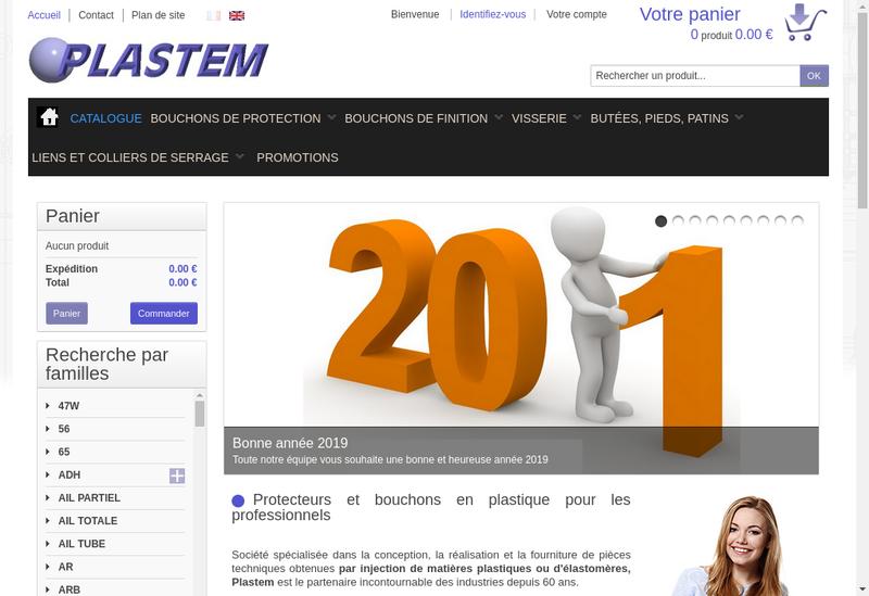 Capture d'écran du site de Plastem