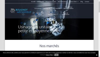 Site internet de Bouchot Mecanique