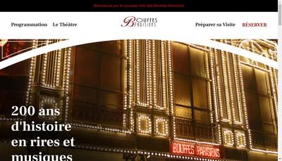 Site internet de Les Bouffes Parisiens