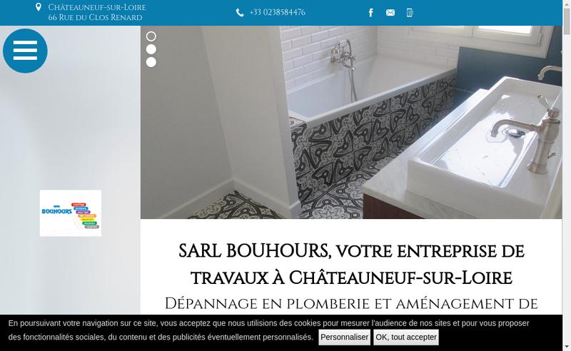 Capture d'écran du site de SARL Bouhours