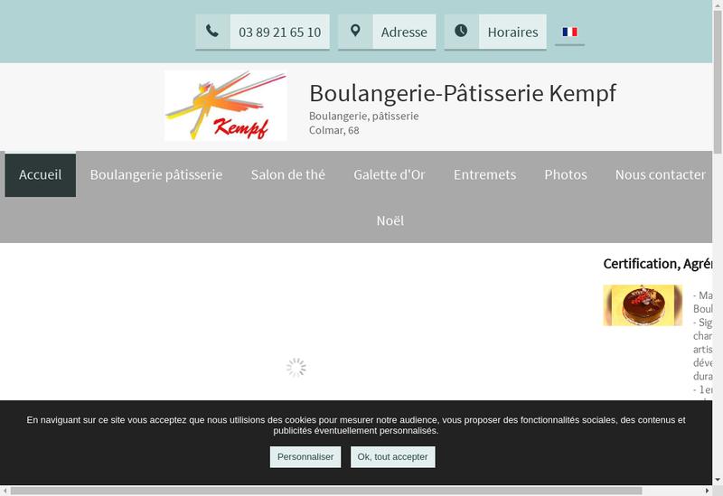 Capture d'écran du site de Societe Expl Boulangerie Patisserie Kempf