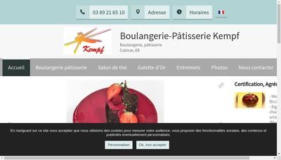 Site internet de Societe Exploit Boulangerie Patisserie Kempf