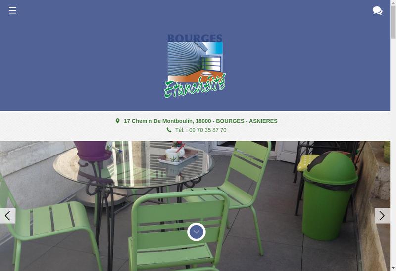 Capture d'écran du site de Bourges Etancheite