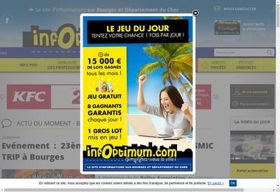 Site internet de Infoptimum