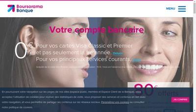 Site internet de Boursorama Banque