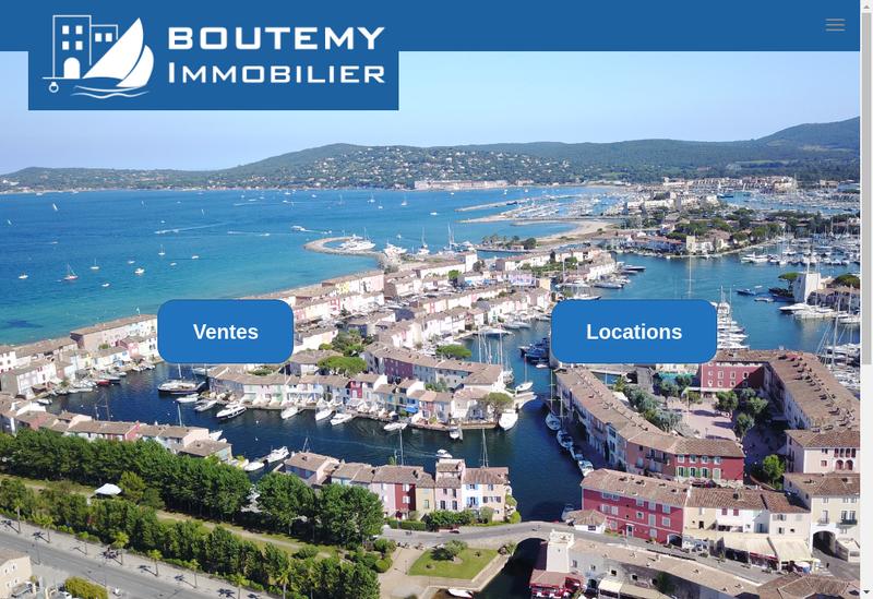 Capture d'écran du site de Boutemy Immobilier