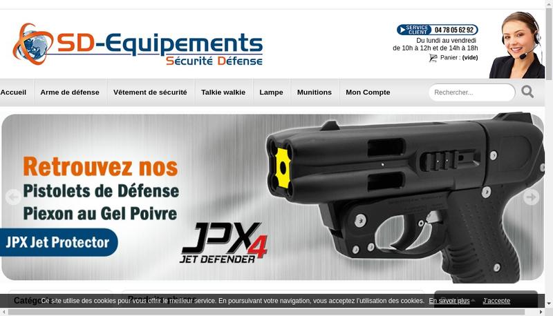Capture d'écran du site de Sd-Equipements