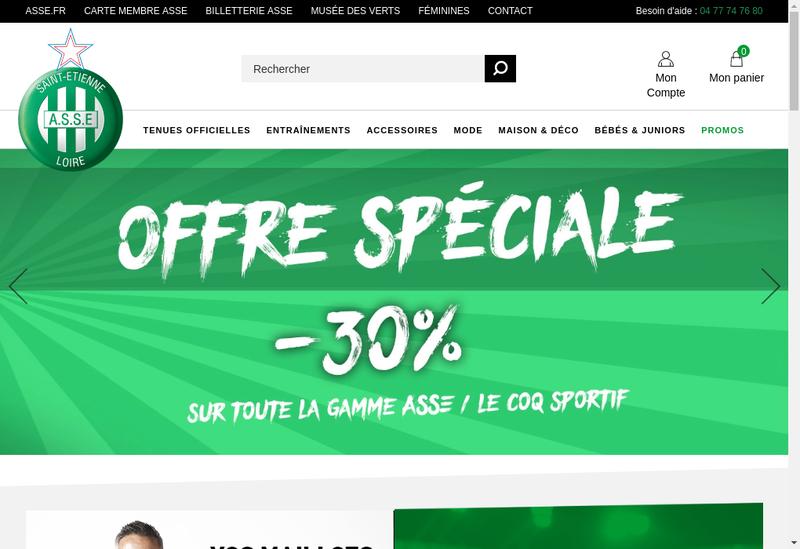Capture d'écran du site de La Boutique des Verts