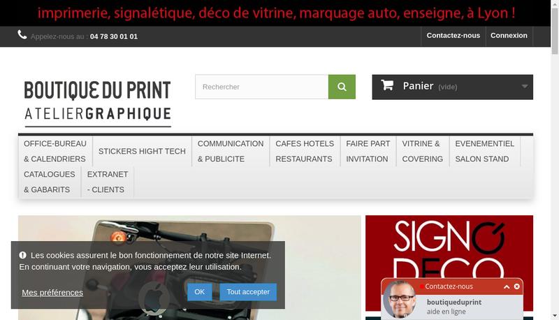 Capture d'écran du site de Rapid Copy