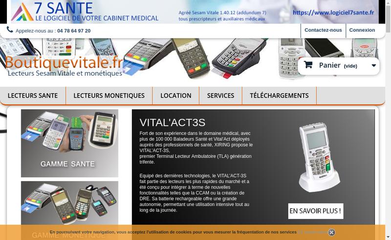 Capture d'écran du site de 7 Info