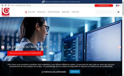 Site internet de Bouyer Industrie