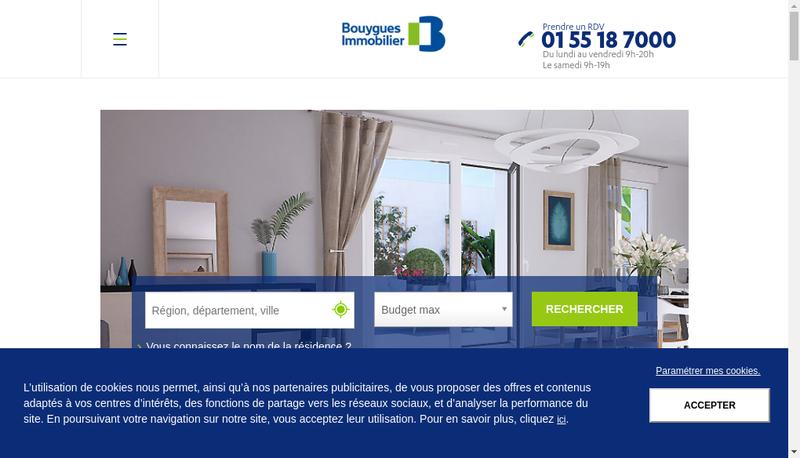 Capture d'écran du site de Bouygues Immobilier-Cmc
