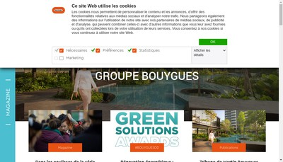 Site internet de Bouygues