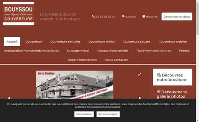 Site internet de Bouyssou Couverture