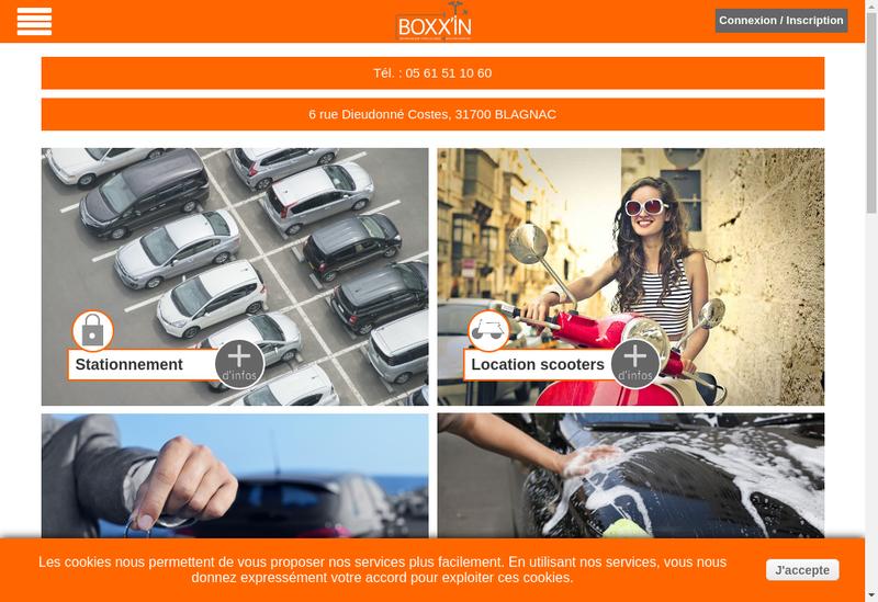 Capture d'écran du site de Boxx'In