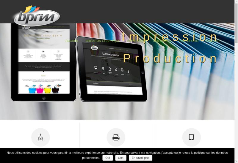 Capture d'écran du site de B Prim