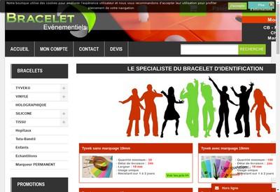 Site internet de Bracelets Evenementiels