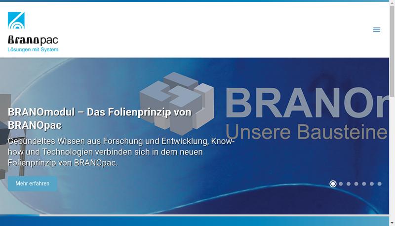 Capture d'écran du site de Branopac