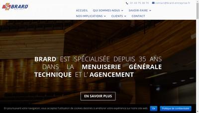 Site internet de Entreprise Brard