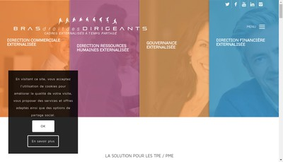 Site internet de Bras Droit des Dirigeants Boulogne