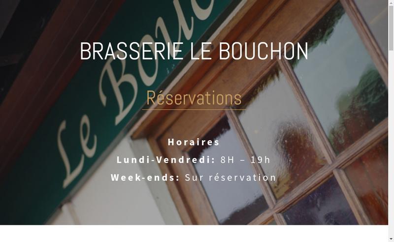 Capture d'écran du site de Le Bouchon