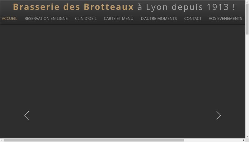 Capture d'écran du site de Jules Brotteaux