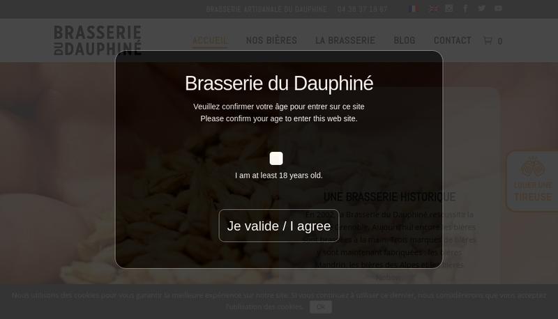 Capture d'écran du site de Brasserie Artisanale du Dauphine