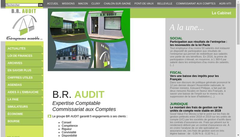Capture d'écran du site de Br Audit Belleville