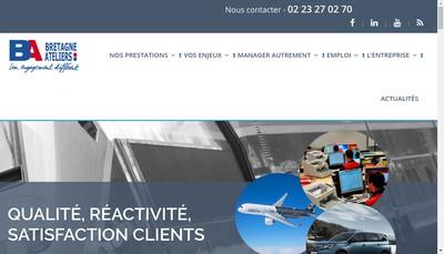 Site internet de Bretagne Ateliers