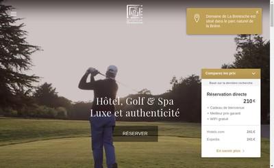 Site internet de Hotel de la Bretesche