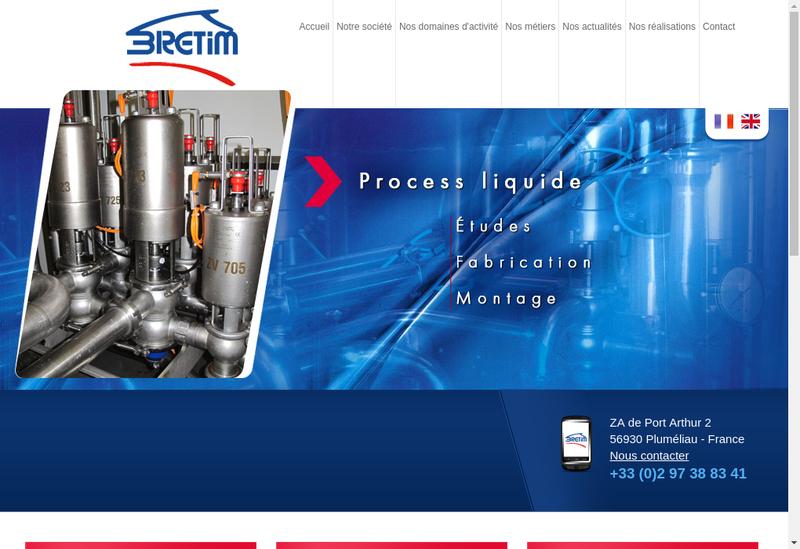 Capture d'écran du site de Bretim