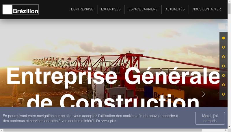 Capture d'écran du site de Brezillon
