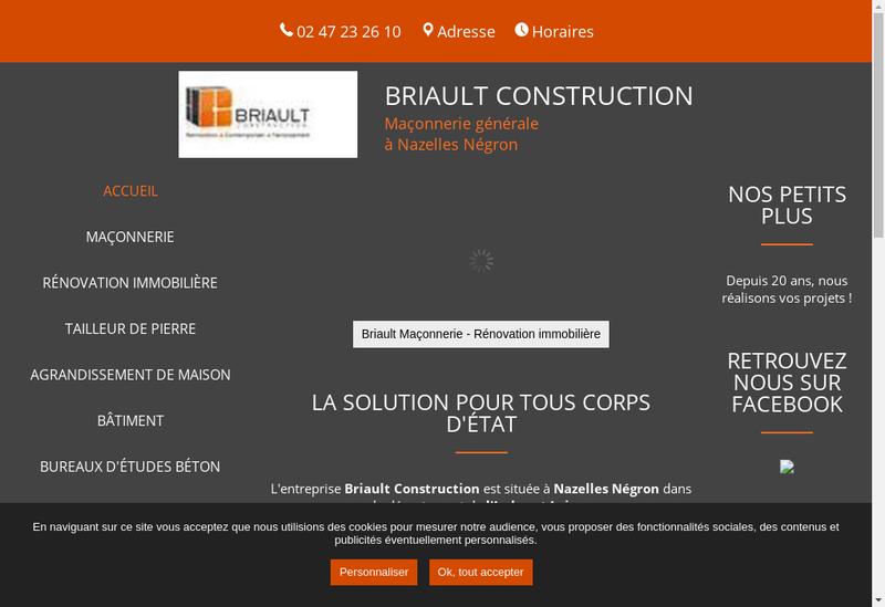 Capture d'écran du site de Briault Construction