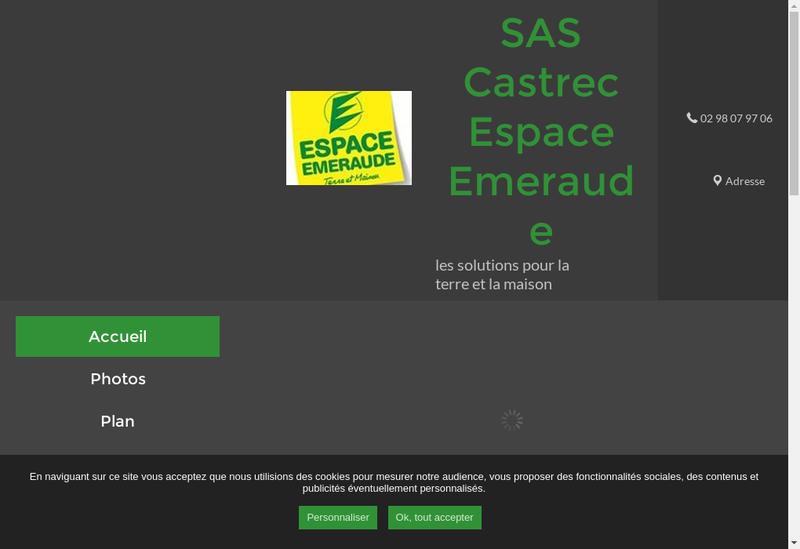 Capture d'écran du site de Castrec