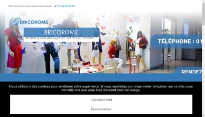 Capture d'écran du site de Bricorome
