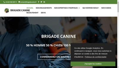 Site internet de Brigade Canine Prive