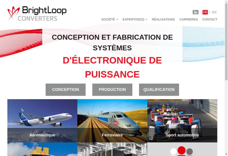 Capture d'écran du site de Brightloop