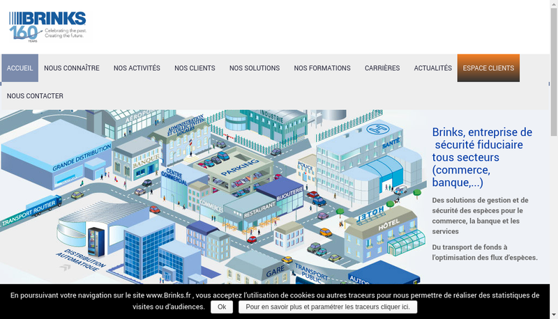 Capture d'écran du site de Brink'S Brink'S Global Services / Bgs