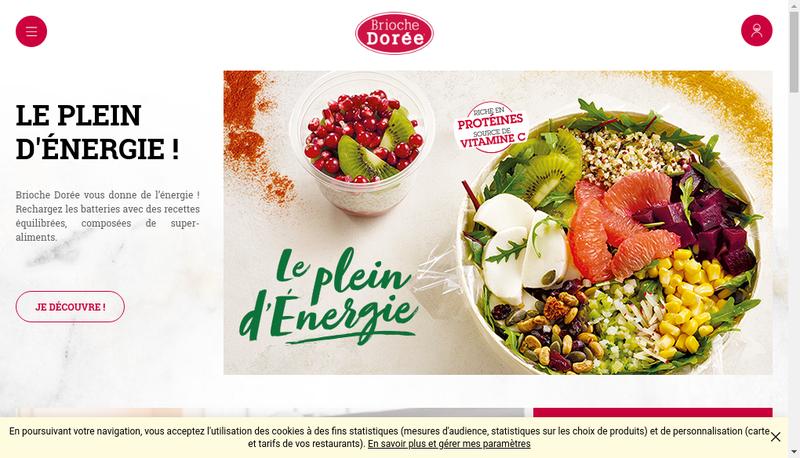 Capture d'écran du site de La Brioche Doree le Fournil de Pierre