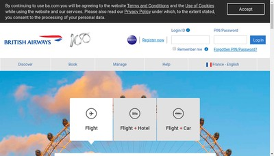 Site internet de British Airways Plc