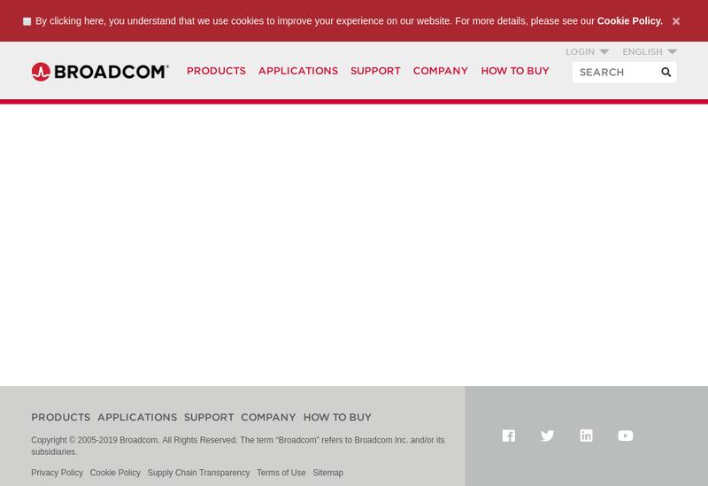 Capture d'écran du site de Brocade France SAS