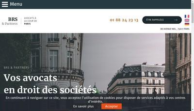 Site internet de Brs & Partners