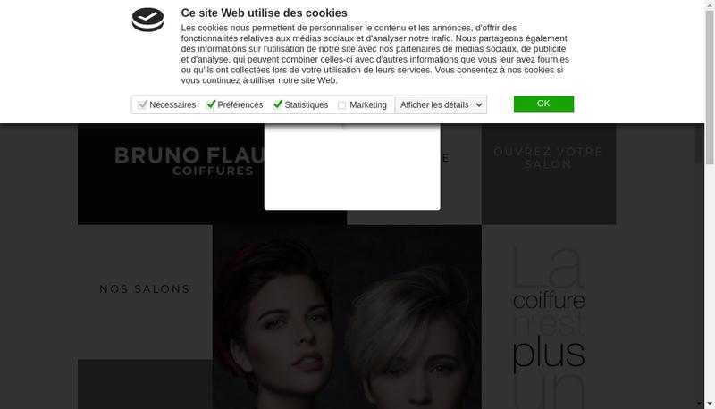 Capture d'écran du site de Bruno Flaujac