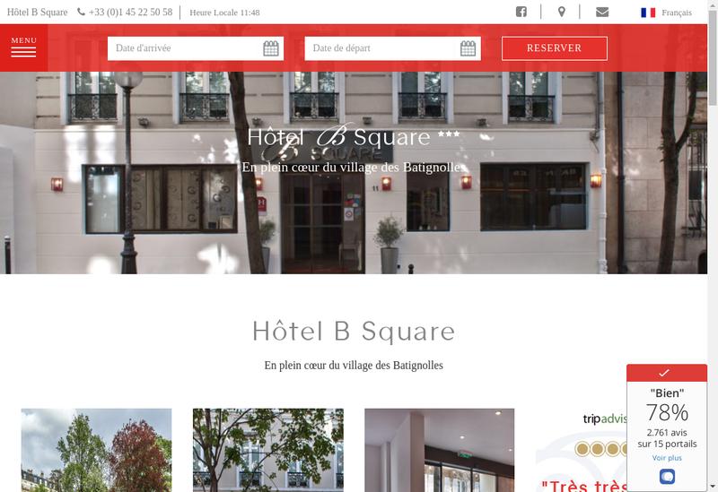 Capture d'écran du site de B Square