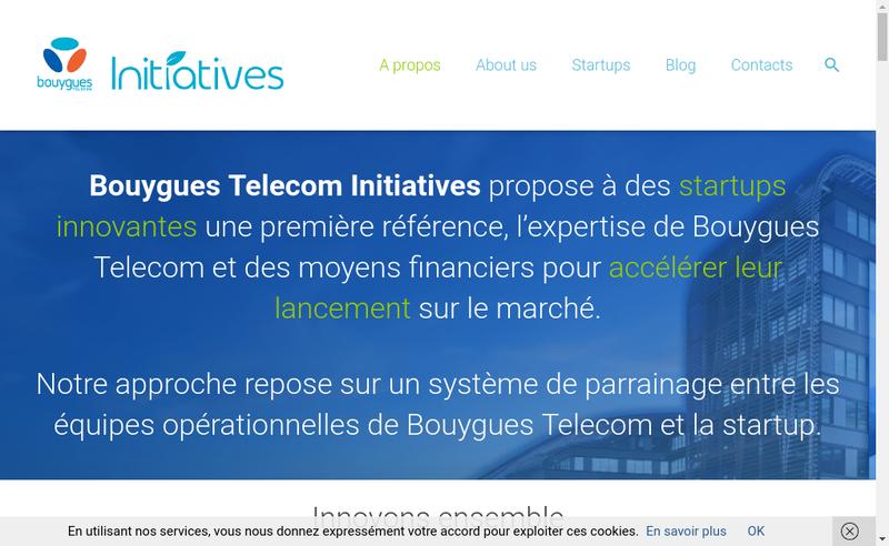 Capture d'écran du site de Bouygues Telecom Initiatives