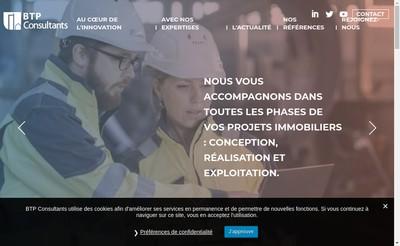 Site internet de Btp Consultants